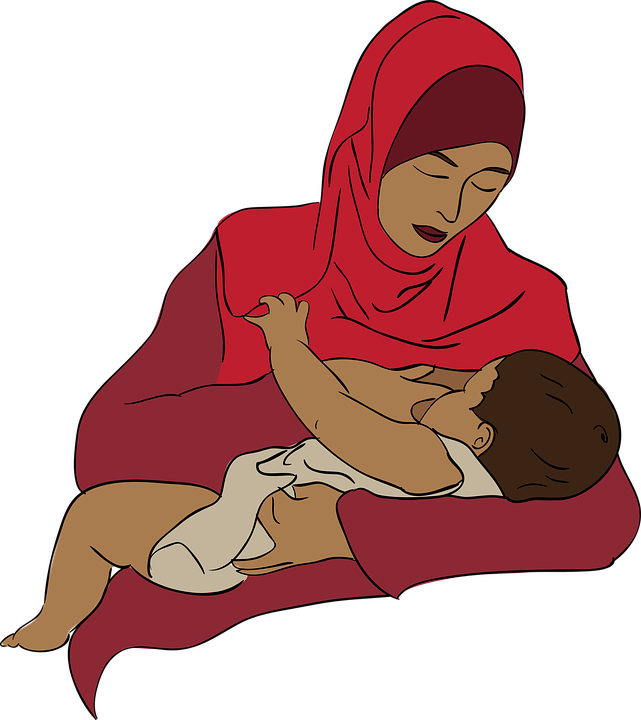 a mother breastfeeding her baby